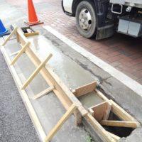 コンクリート流し込み