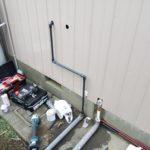 キッチン 給排水管移設工事