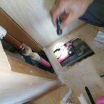 床下水漏れ修理工事