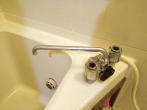 浴室水栓修理後