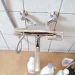 逆配管用サーモスタット混合栓交換