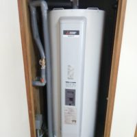 室内電気温水器 設置後