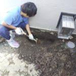 検針で水漏れ 外部漏水修理