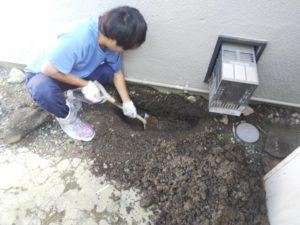 漏水修理作業