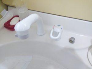 洗面シャワー水栓交換後