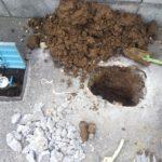 水道メーター先水漏れ修理工事
