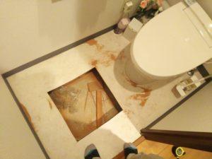 トイレ床下配管