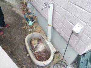 外水栓下水漏れ